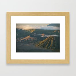 Javanese volcano craters Framed Art Print