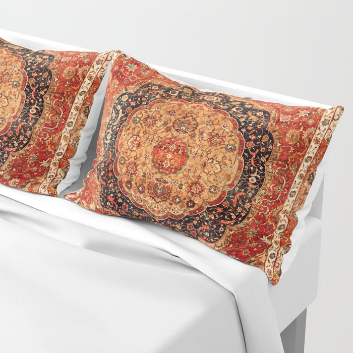 Seley 16th Century Antique Persian Carpet Print Pillow Sham