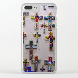 Guatemalan Crosses Clear iPhone Case