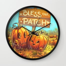 Bless Our Patch Wall Clock