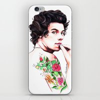 harry styles iPhone & iPod Skins featuring Harry Styles by dariemkova