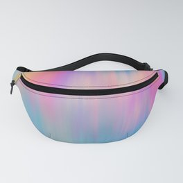 Artsy abstract pink teal blue watercolor brushstrokes Fanny Pack