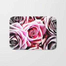 Bright Pink Roses : Pop of Color Bath Mat