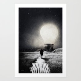 Follow the light ... Art Print