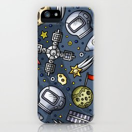 Poster Background | Space Doodle Pattern iPhone Case