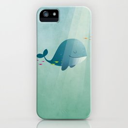 Whale print iPhone Case