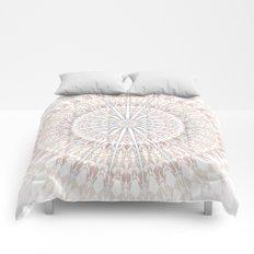 Beige White Mandala Comforters