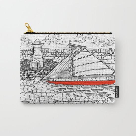 Sailors Dream Fair Winds Sailboat Zentangle Carry-All Pouch
