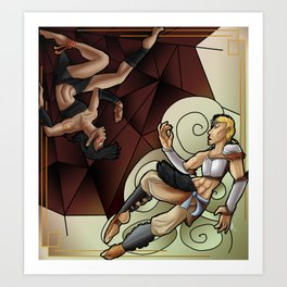 The Spider and the Lioness Art Print