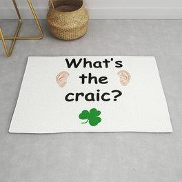 What's the craic? - Irish Slang Rug