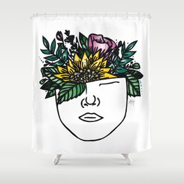 Thoughtful (Color) Shower Curtain