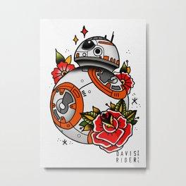 BB8 Tattoo Flash Metal Print