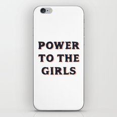 Power To The Girls iPhone Skin