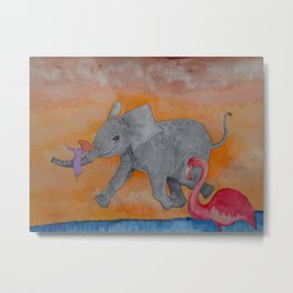 Little Giggles Metal Print