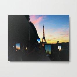 Pixelated Present Moment Metal Print