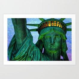 Statue of Liberty 4th of July tribute Art Print