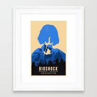 bioshock infinite Framed Art Prints featuring Bioshock Infinite Elizabeth by Bill Pyle