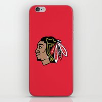 blackhawks iPhone & iPod Skins featuring Blackhawks Inspired D Rose by beejammerican