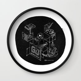 Grazing in the Space Wall Clock