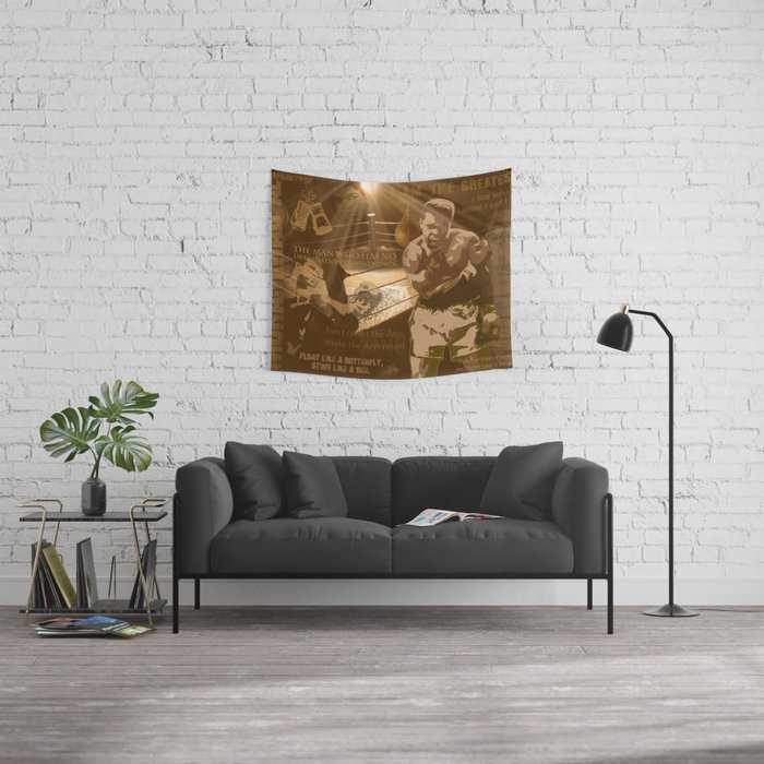The Champ: Ali Wall Tapestry