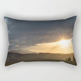 Yellowstone National Park - Sunset, Blacktail Deer Plateau Rectangular Pillow