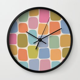Minimal Blocks - Rainbow Wall Clock