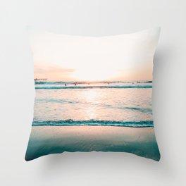 California Seaside Throw Pillow