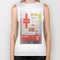 band Biker Tanks featuring Band Aid by Robin Curtiss