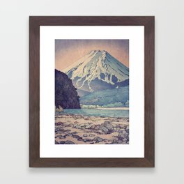 At Prayer at Dayai Shore Framed Art Print