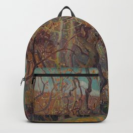 Canadian Landscape Oil Painting Franklin Carmichael Art Nouveau Post-Impressionism Silvery Tangle Backpack