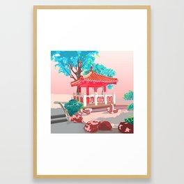 A quiet place HKc Framed Art Print