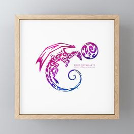 Kara Lockharte's Dragons: Escape. Adventure. Romance. Framed Mini Art Print