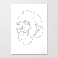 One Line Charles Bukowski Canvas Print
