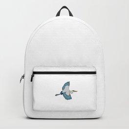 Great Blue Heron Bird Love Heron Birds Backpack
