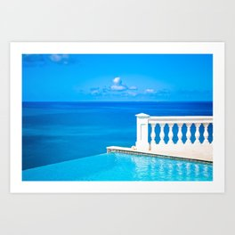 infinitely blue Art Print