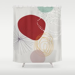 modern abstract VI Shower Curtain