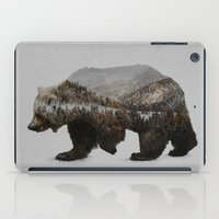 grey iPad Cases featuring The Kodiak Brown Bear by Davies Babies