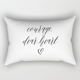 COURAGE DEAR HEART by Dear Lily Mae Rectangular Pillow