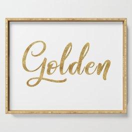 Golden Serving Tray