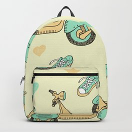doodle scooter seamless pattern Backpack