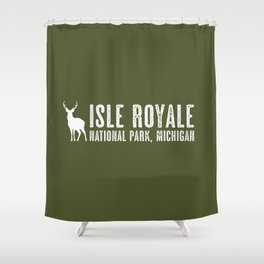 Isle Royale Deer Shower Curtain