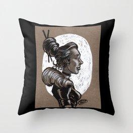 Victorian Profile_2 Throw Pillow