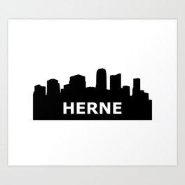 Herne Skyline Art Print