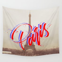 We Were Staying in Paris Wall Tapestry
