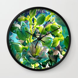 Lost in bloom IV Wall Clock