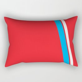 Red Slant Rectangular Pillow