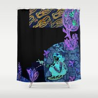 princess Shower Curtains featuring princess by valentina biletta