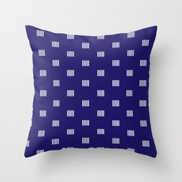 pipes or vertical line segments dotted pattern Throw Pillow