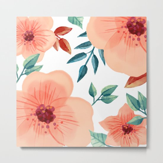 FLOWERS WATERCOLOR 2 Metal Print