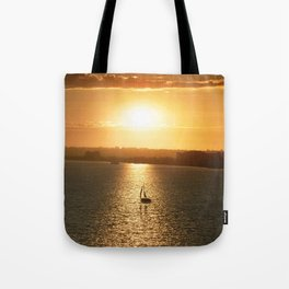 Sail away from the safe harbor Tote Bag